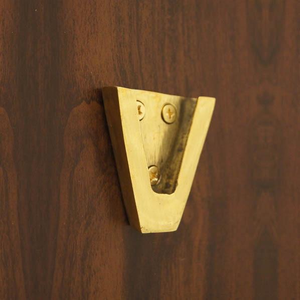 """Weems & Plath Brass Wall Bracket for 4"""" Brass Bell #4040"""