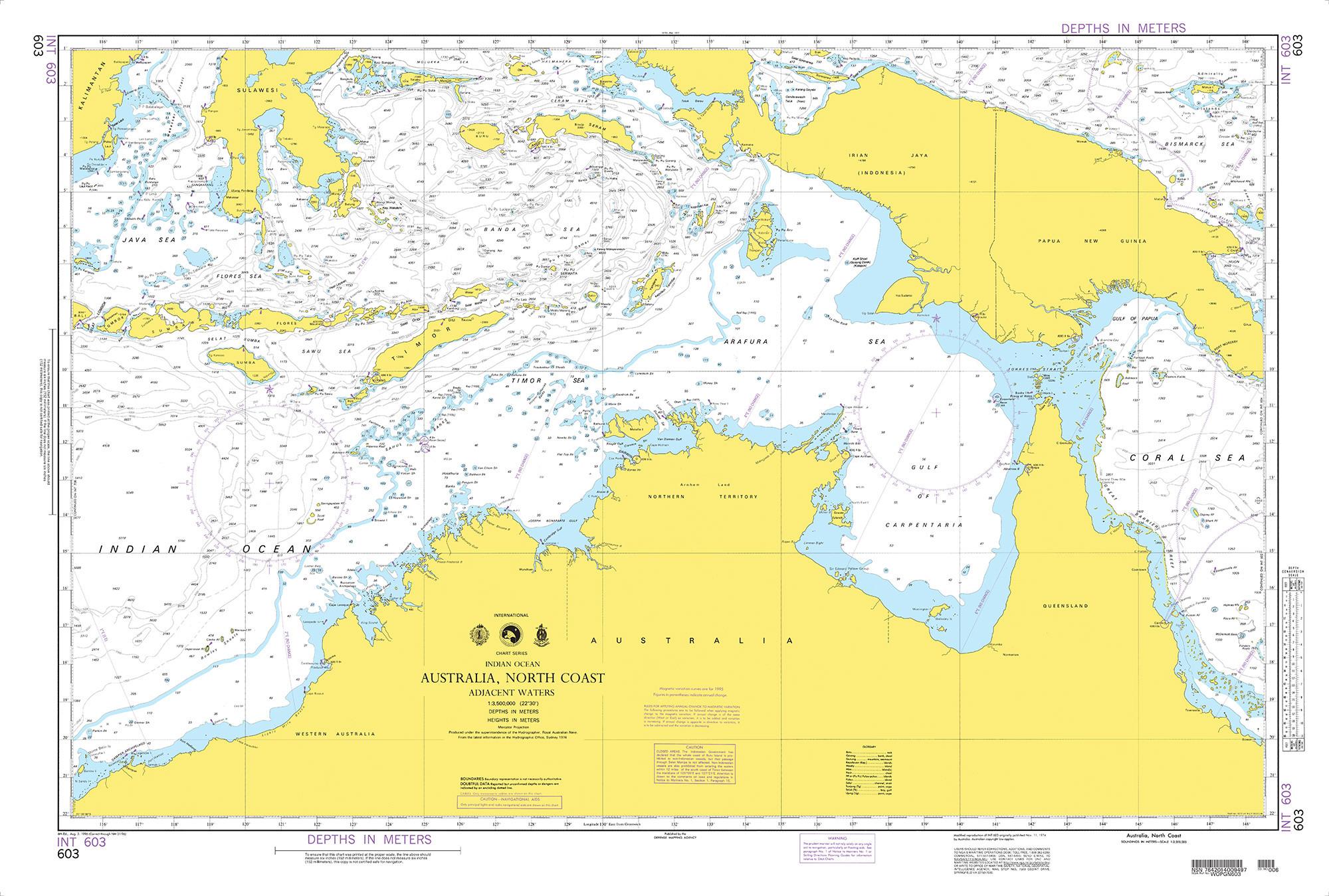 NGA Nautical Chart - 603 Australia, North Coast-Adjacent Waters