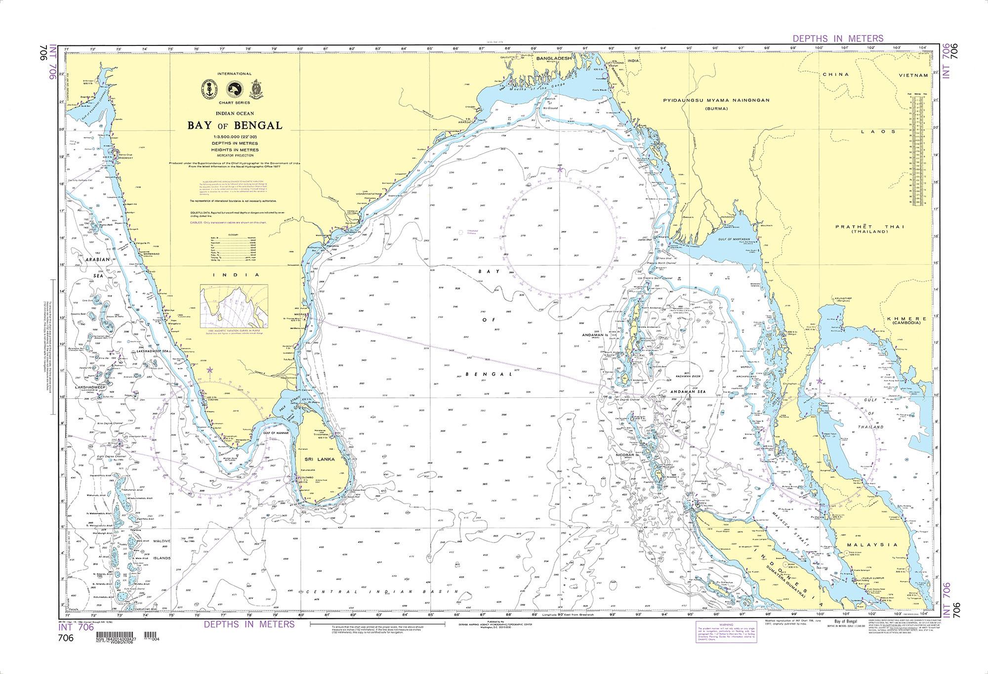 NGA Nautical Chart - 706 Bay of Bengal (OMEGA)