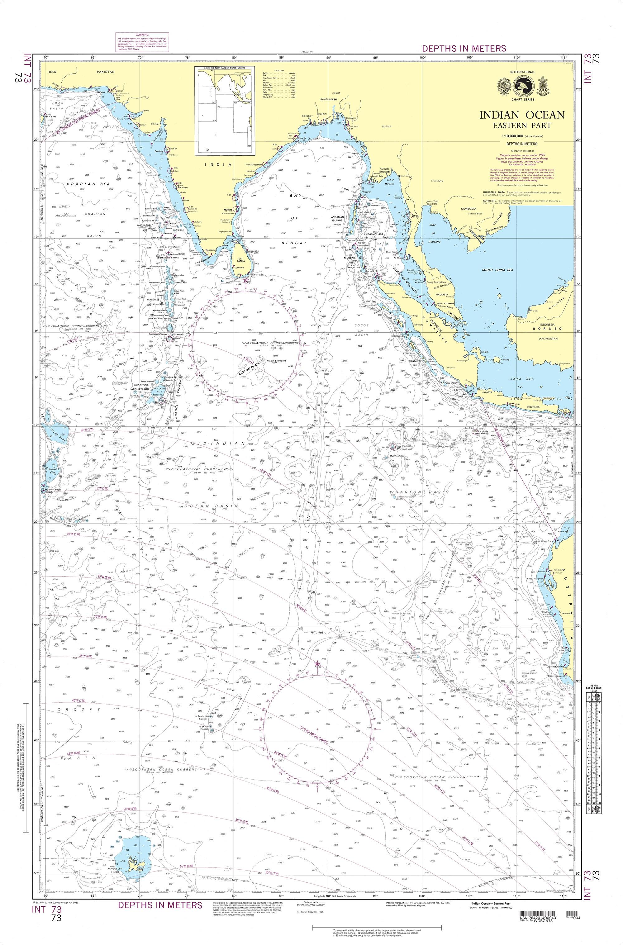 NGA Nautical Chart - 73 Indian Ocean-Eastern Part