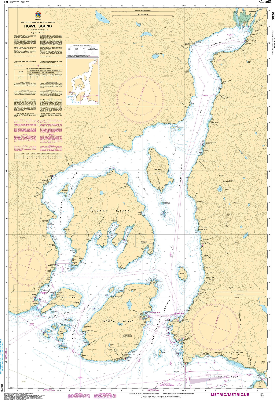 CHS Nautical Chart - CHS3526 Howe Sound