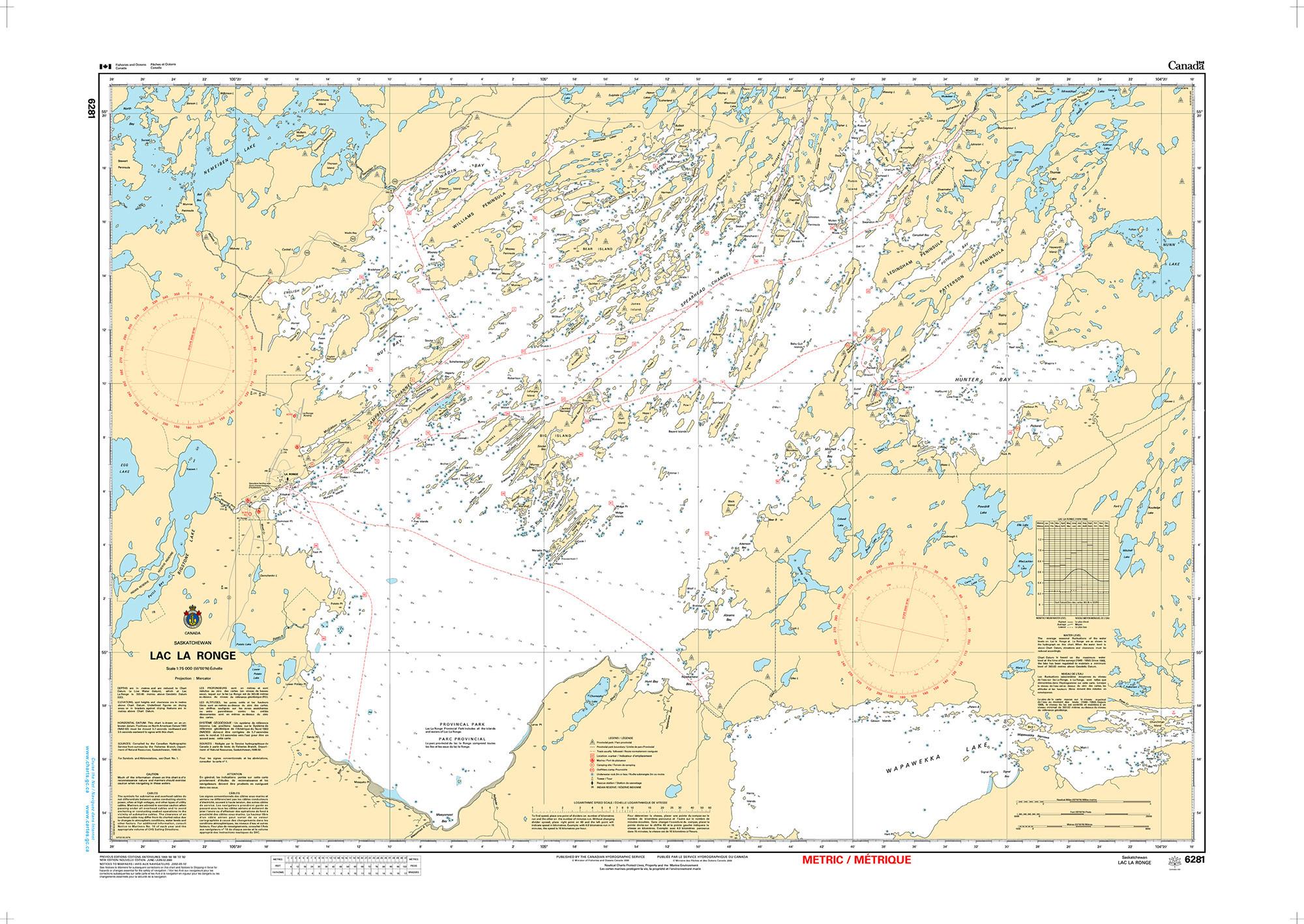 CHS Nautical Chart - CHS6281 Lac La Ronge