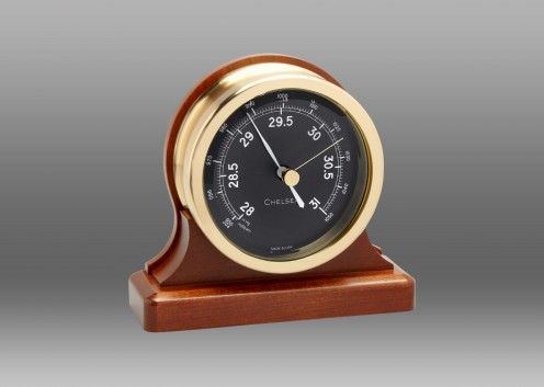 Chelsea Voyager Barometer on Cherry Base 3.5 Inch -Black Dial