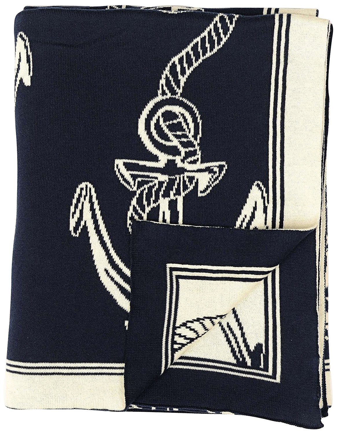 Darzzi Nautical Rope & Anchor Throw Blankets