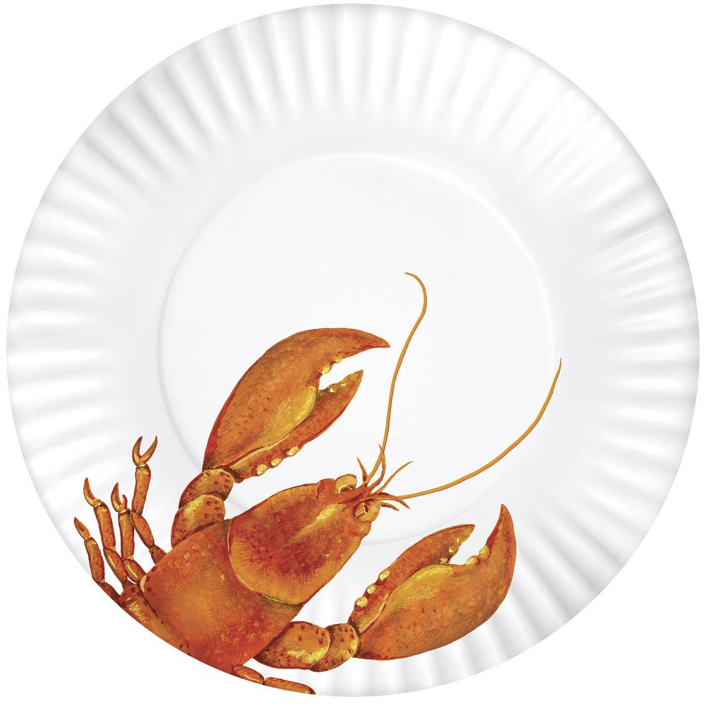 Melamine Plates 11 inch - Set of Four - Lobster