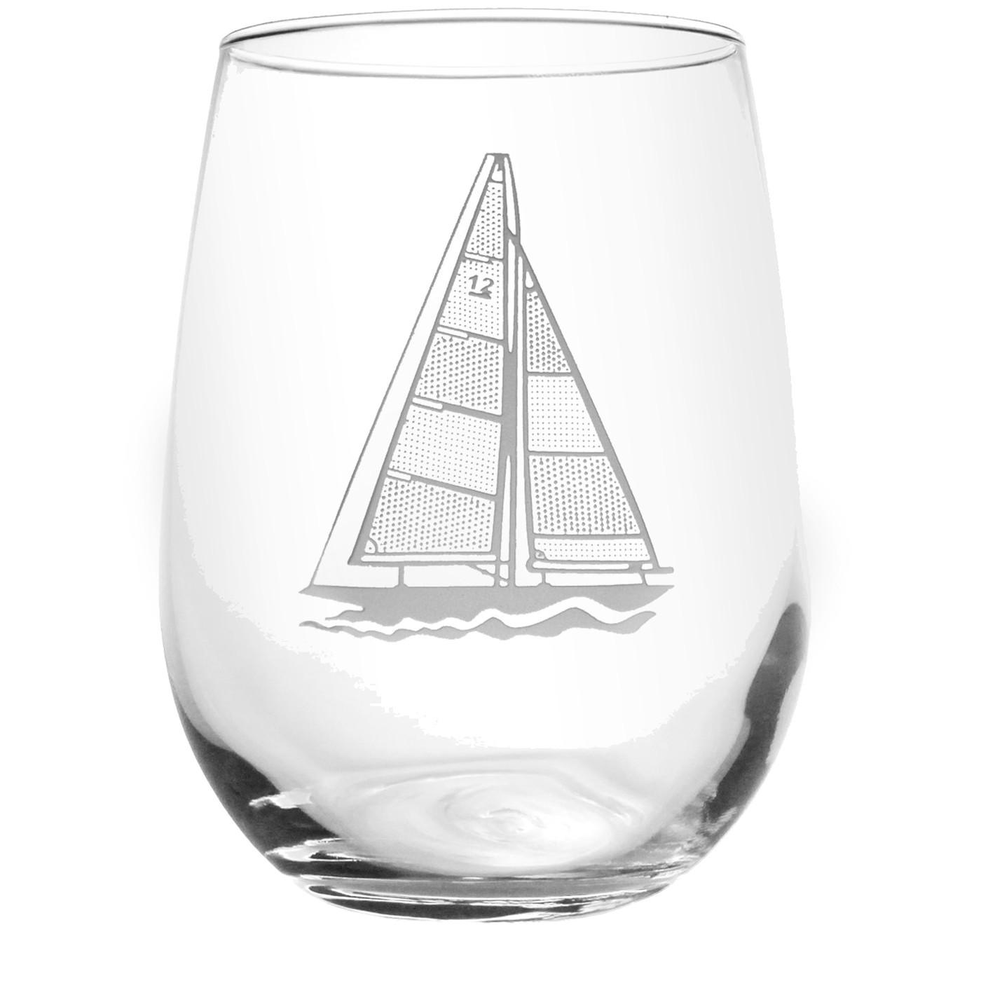 Rolf Glass Sailboat Stemless Tumbler