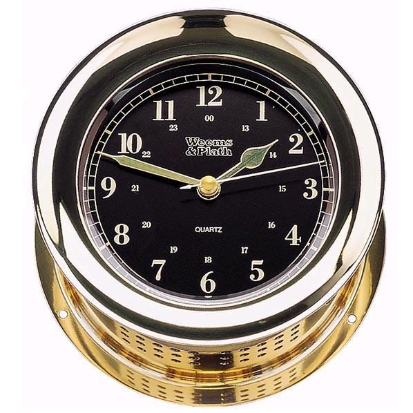 Weems & Plath Atlantis Premiere Quartz Ship's Bell Clock Black Dial
