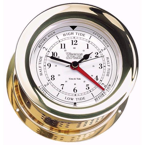 Weems & Plath Atlantis Time, Tide Clock Brass