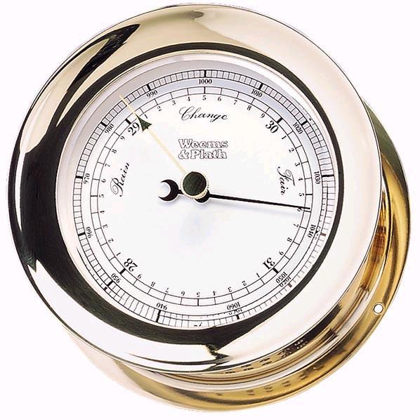 Weems & Plath Atlantis Barometer Brass