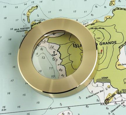 Weems & Plath Brass Chart Weight Magnifier
