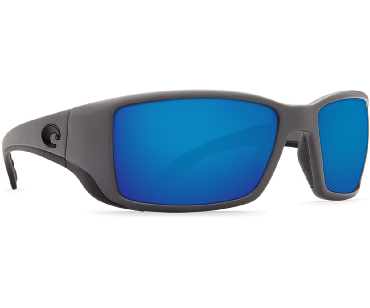 Costa Del Mar Blackfin Sunglasses - Matte Grey Frame w/ Blue Mirror Lens