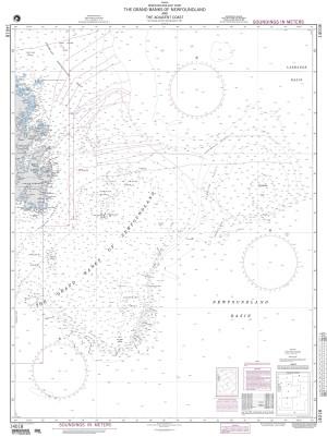 NGA Nautical Chart - 14018 The Grand Banks of Newfoundland and the Adjacent Coast