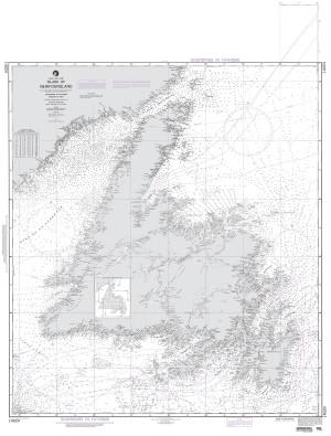 NGA Nautical Chart - 14024 Island of Newfoundland