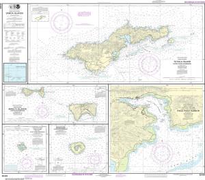 NOAA Nautical Chart - 83484 U.S. Possessions in Samoa Islands Manua Islands; Pago Pago Harbor; Tutuila Island; Rose Atoll; Swains Island