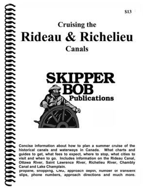 Skipper Bob Cruising the Rideau, Richelieu Canals