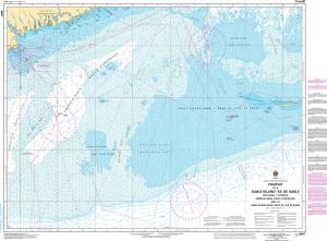 CHS Nautical Chart - CHS8007 Halifax to / a Sable Island / Ile de Sable, Including / y compris Emerald Bank / Banc demeraude and / et Sable Island Bank / Banc de lIle de Sable