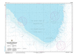 CHS Nautical Chart - CHS8010 Grand Bank / Grand Banc: Southern Portion / Partie Sud