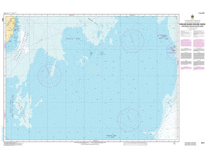 CHS Nautical Chart - CHS8011 Grand Bank / Grand Banc: Northern Portion / Partie Nord