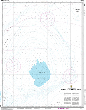 CHS Nautical Chart - CHS8013 Flemish Cap / Bonnet Flamand
