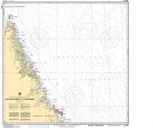 CHS Nautical Chart - CHS8046 Button Islands to / a Cod Island