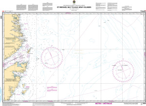 CHS Nautical Chart - CHS8049 St. Michael Bay to / aux Gray Islands