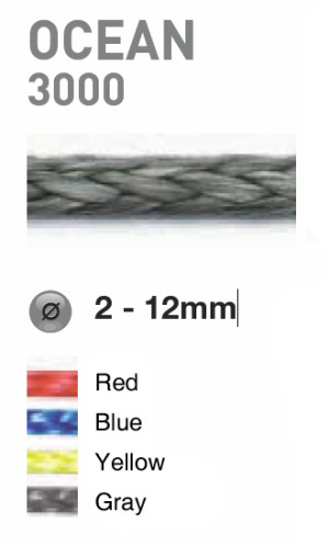 Ronstan 6mm Blue Ocean 3000 Dyneema Single Braid Line