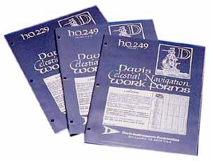 Davis Celestial Navigation Work Forms h.o.249 VOLUMES 2 & 3 (Sun Moon Planet and Star)