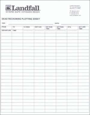 Dead Reckoning Plotting Sheet Pad