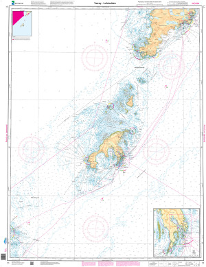 NHS Nautical Chart - NHS071 Vaeroy - Lofotodden