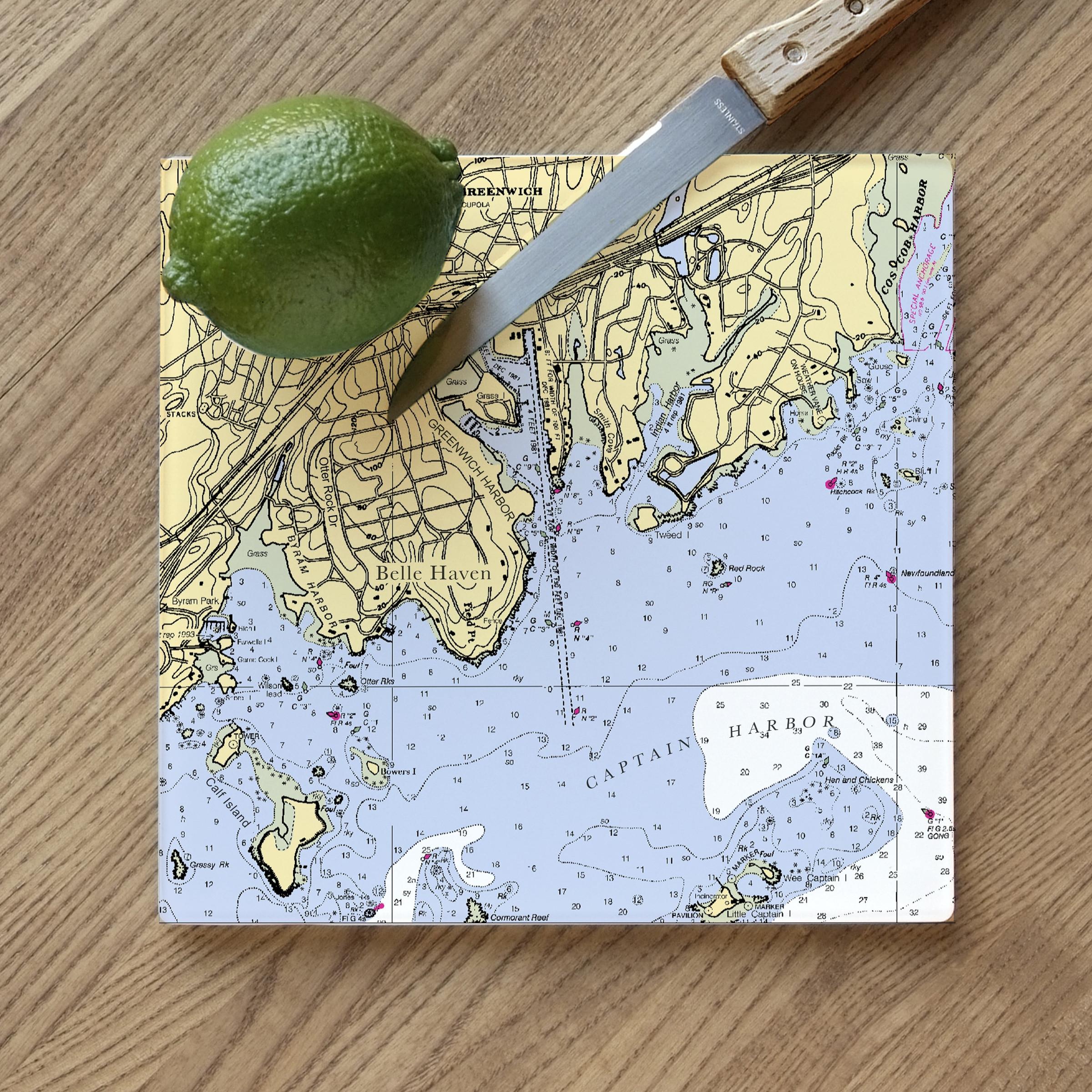 ScreenCraft - Glass Cutting Board - Greenwich
