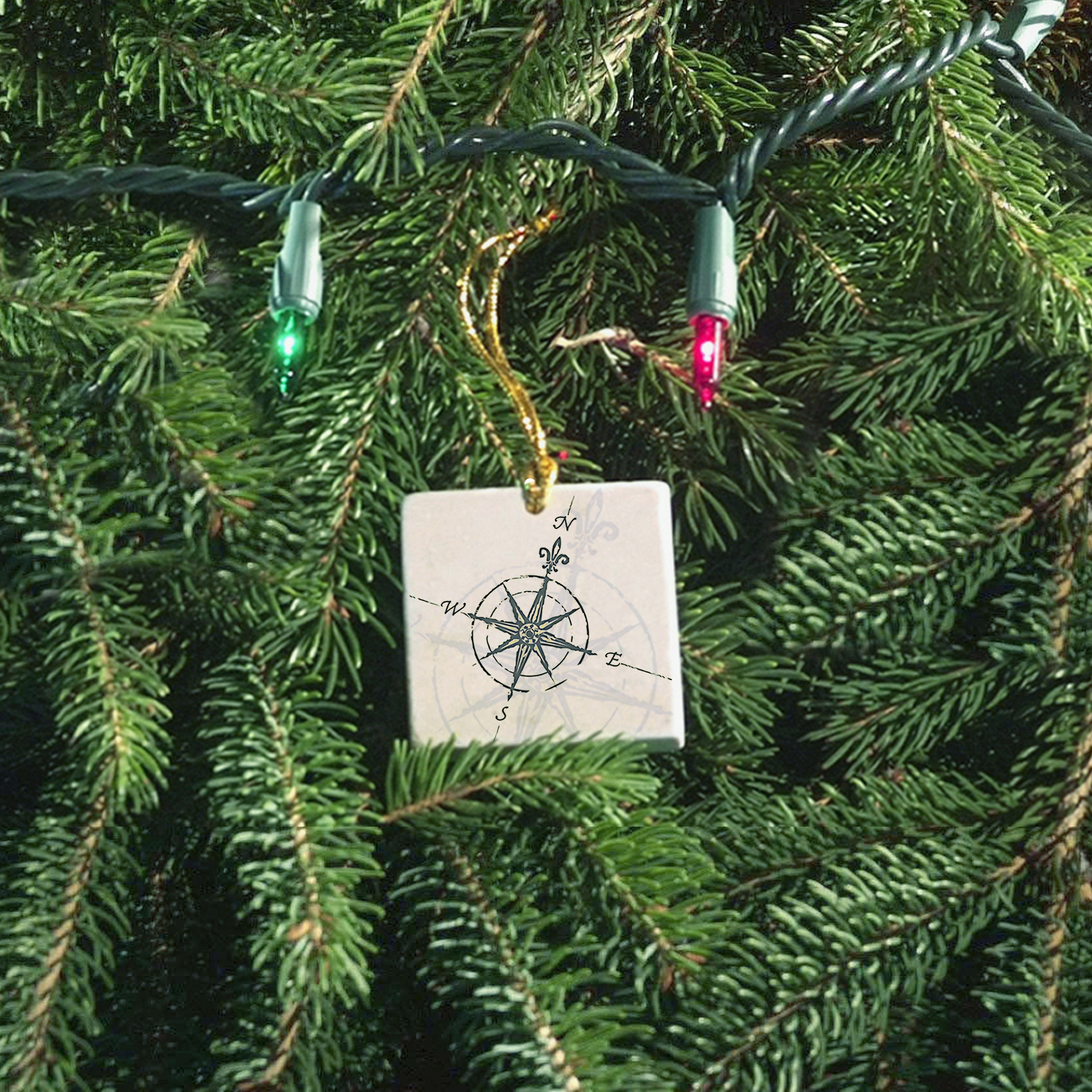 ScreenCraft - Compass Rose Ornament