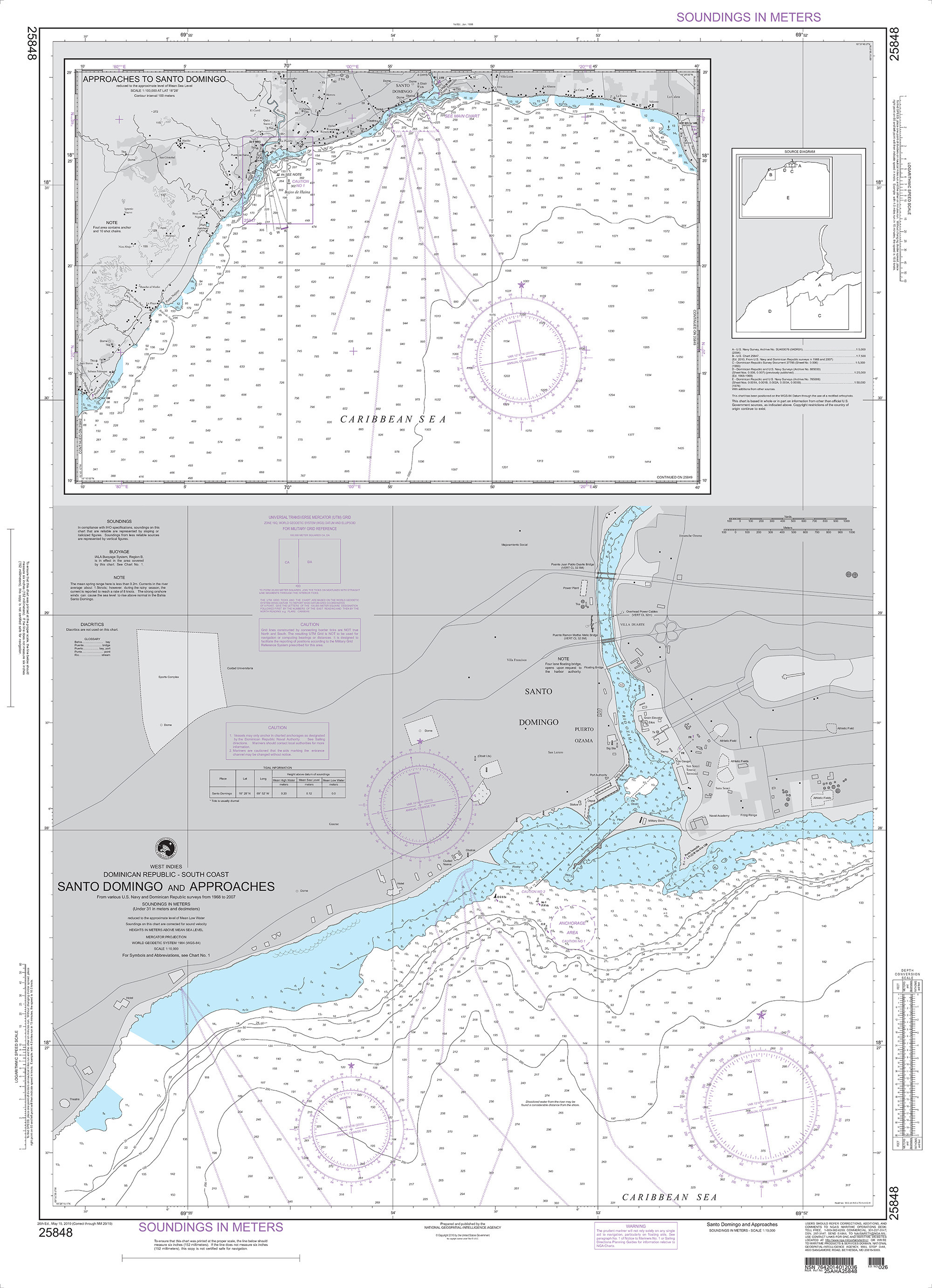 NGA Nautical Chart - 25848 Dominican Republic-South Coast Plans: A  Puerto  de Haina