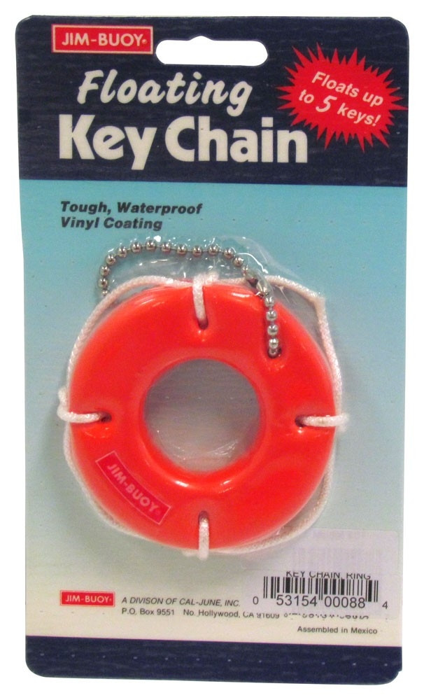 Jim-Buoy Key Chain, Orange Life Ring