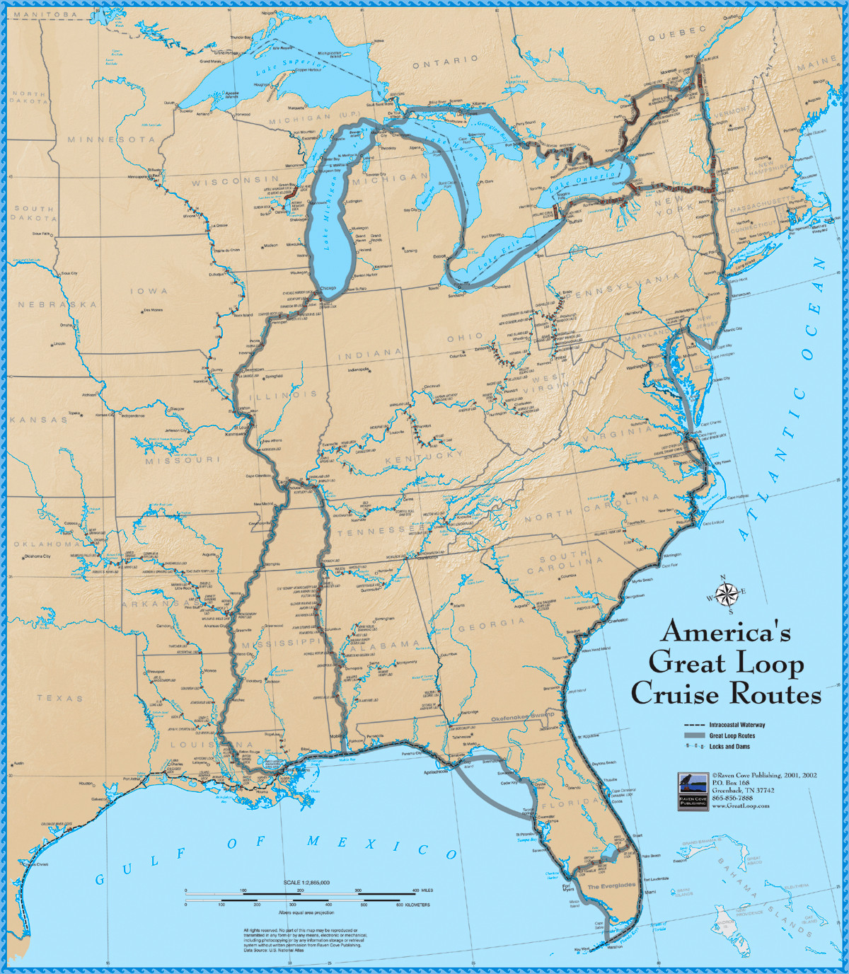 Florida West Coast Intracoastal Waterway Map.America S Great Loop Cruise Map