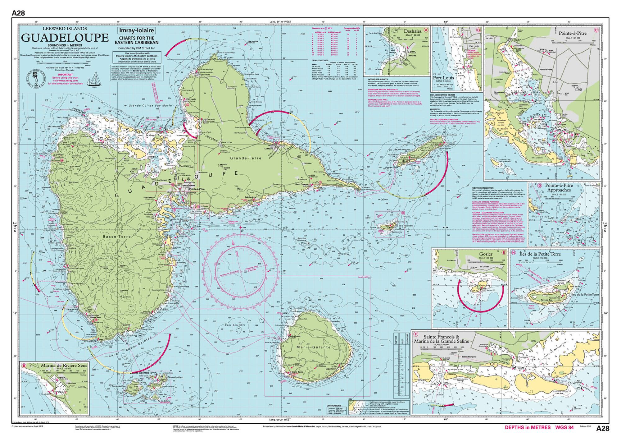 Imray Nautical Chart - Imray-A28 Guadeloupe