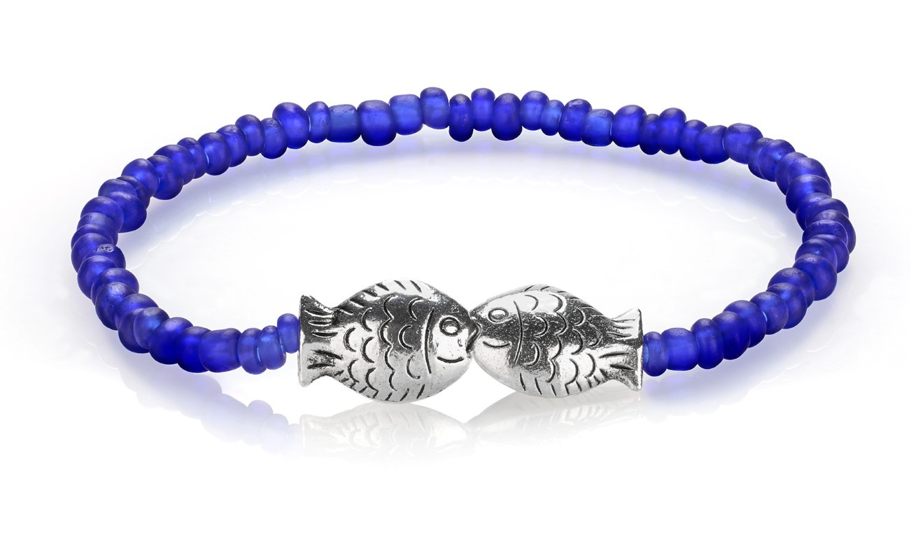 low tide bracelet kissing fish zinc glass gifts for her gift