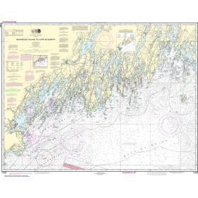 NOAA Nautical Chart - 13288 Monhegan Island to Cape Elizabeth