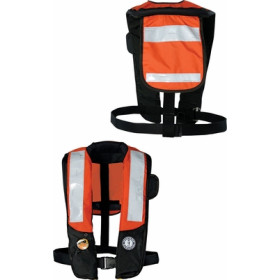 Mustang Hydrostatic Inflatable PFD Hi-Vis w/ SOLAS Tape