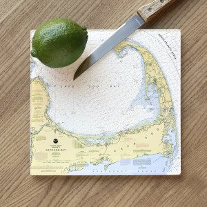 ScreenCraft - Glass Cutting Board - Cape Cod