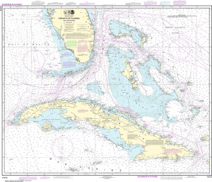 NOAA Nautical Chart - 11013 Straits of Florida and Approaches