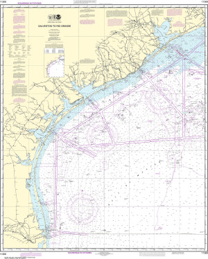NOAA Nautical Chart - 11300 Galveston to Rio Grande