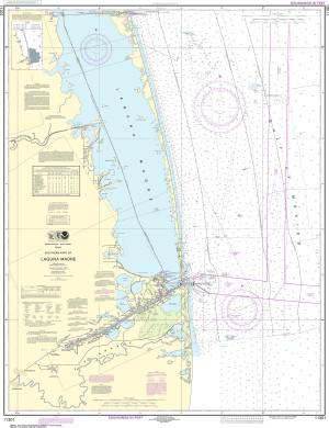 NOAA Nautical Chart - 11301 Southern part of Laguna Madre