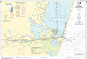 NOAA Nautical Chart - 11302 Intracoastal Waterway Stover Point to Port Brownsville, including Brazos Santiago Pass