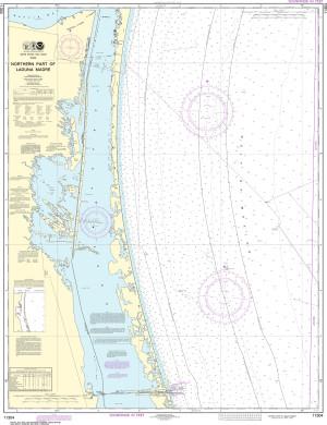 NOAA Nautical Chart - 11304 Northern part of Laguna Madre