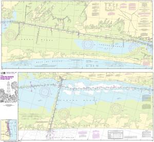 NOAA Nautical Chart - 11306 Intracoastal Waterway Laguna Madre Middle Ground to Chubby Island
