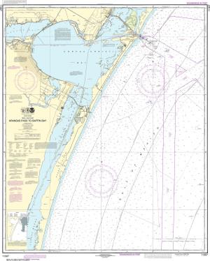 NOAA Nautical Chart - 11307 Aransas Pass to Baffin Bay