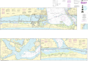 NOAA Nautical Chart - 11308 Intracoastal Waterway Redfish Bay to Middle Ground