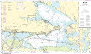 NOAA Nautical Chart - 11314 Intracoastal Waterway Carlos Bay to Redfish Bay, including Copano Bay