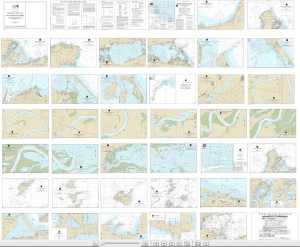 NOAA Small Craft Book Chart - 14842 Port Clinton to Sandusky, including the Islands (book of 35 charts)