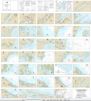 NOAA Small Craft Book Chart - 14846 West End of Lake Erie from Perrysburg, OH., of the Maumee R. to Huron R., Mich., and Bar Pt., Ont. (book of 34 charts)